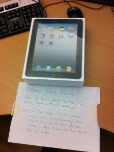 gaven fra kollegaene på jobben...